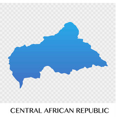 central african republic map in africa continent vector image
