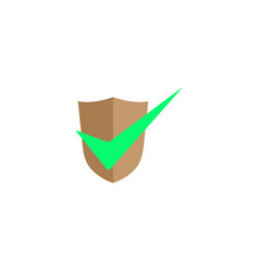 checkmark shield secure connection icon for logo vector image