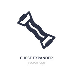 Chest expander icon on white background simple vector