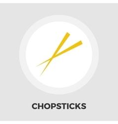 Chopsticks flat icon vector