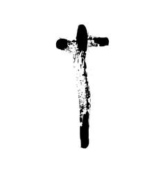Christian cross grunge religion symbol vector image vector image