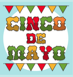 cinco de mayo banner and title vector image