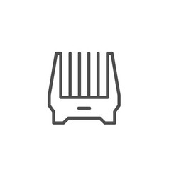 Clipper attachment line icon vector