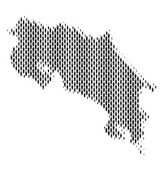 Costa rica map population demographics vector