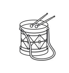 Drum toy childrens toy vector