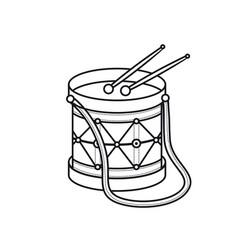 Drum toy childrens toy vector