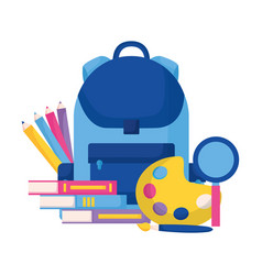 education supplies school vector image