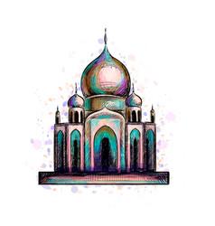 Eid mubarak celebration islam ramadan kareem vector