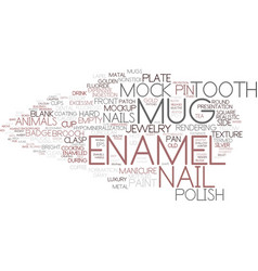 Enamel word cloud concept vector