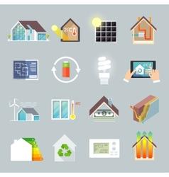 Energy Saving House vector image