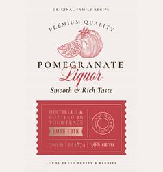 Family recipe pomegranate liquor acohol label vector