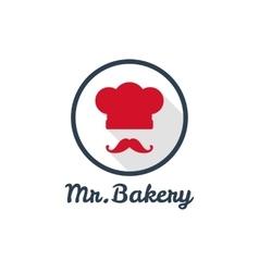 flat bakery or restaurant minimalistic logo vector image