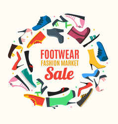 flat color woman shoes banner card vector image vector image