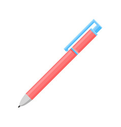 Flat icon of bright pink retractable vector