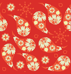 floral paisley doodle seamless pattern it is vector image