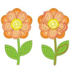 Flower maze vector