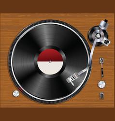 Gramophone vinyl player playing record vector