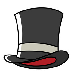 Graphic of a magician hat vector