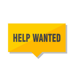 Help wanted price tag vector