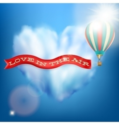 Hot air balloon with banner eps 10 vector
