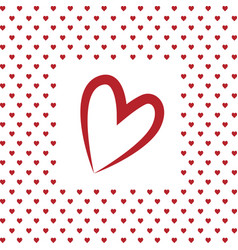 i love you heart valentines day greeting card vector image