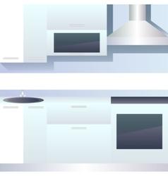 Interior of kitchen blank vector