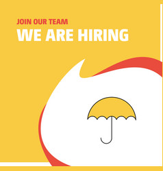 Join our team busienss company umbrella we are vector