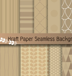 kraft paper seamless background vector image