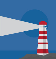 lighthouse on the rock by the sea vector image