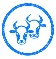 Livestock rounded grainy icon vector