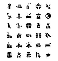 massage icons collection vector image