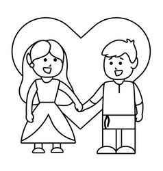 medieval princess and knight design vector image
