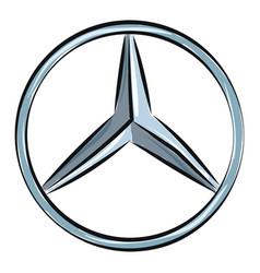 Mercedes benz logo or color vector