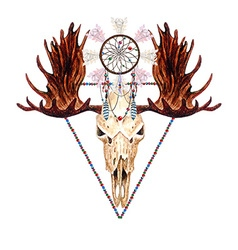 Moose skull and catcher vector