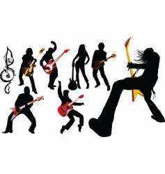 Musicians guitarist vector