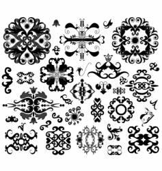 Ornament elements vector