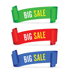 our big sale set of banners vector image