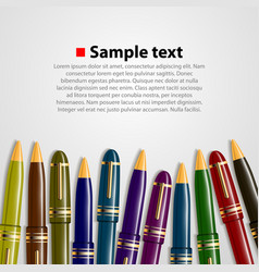 Pen background vector