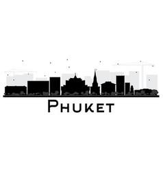 Phuket thailand city skyline silhouette vector