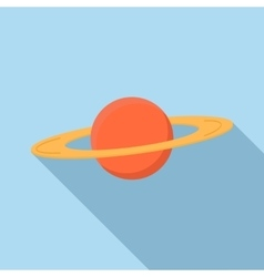 Planet Saturn icon flat style vector