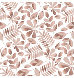 rose gold assorted autumn leaves seamless pattern vector image