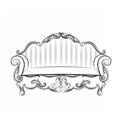 Royal Sofa with ornaments vector image