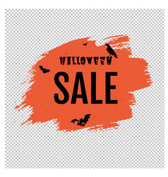 sale happy halloween poster with blob transparent vector image