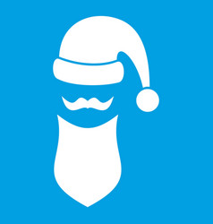Santa hat mustache and beard simple style vector