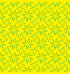 seamless geometrical yellow and green pattern vector image