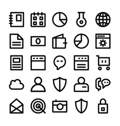 Seo and marketing line icons 1 vector