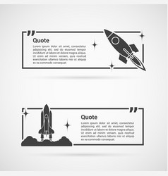 set of quotes templates vector image