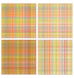 set of seamless rainbow patterns vector image