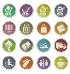 Shopping web icons vector