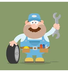 Smiling Mechanic Cartoon vector image